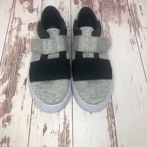 Boys' Gray and Black Sneakers - Size 1